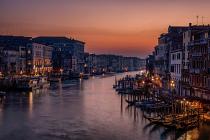 Venice Grand Canal at Sunsetby Karen Deakin