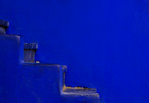 Blue Stairs by Nadine