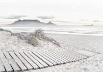Table Mountain in white
