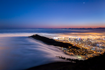 Low clouds washing over Signal Hill by CG Mostert