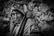 Local man on street corner Peru
