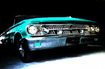 Turquoise classic car